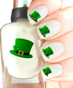 Easy to use, High Quality Nail Art Decal Stickers For Every Occasion! Ideal Christmas Present / Gift - Great Stocking Filler St Patricks Day - Hat