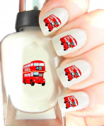 Easy to use, High Quality Nail Art For Every Occasion! Red Bus