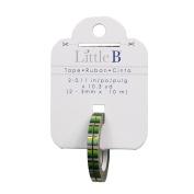 Little B 100569 Decorative Foil Tape, Gold Foil Green Stripes