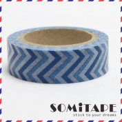 Blue Zigzag 2 Tape Washi Tape, Craft Decorative Tape