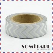 Silver Zigzag Washi Tape, Craft Decorative Tape