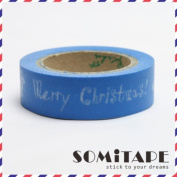 Blue Merry Christmas! Washi Tape, Craft Decorative Tape