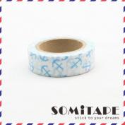 Blue Anchors Washi Tape, Craft Decorative Tape