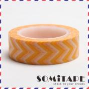 Orange Zigzag Washi Tape, Craft Decorative Tape