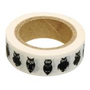 Black Owls Animal Washi Tape, Craft Decorative Tape