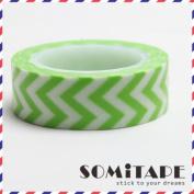Green Zigzag Washi Tape, Craft Decorative Tape