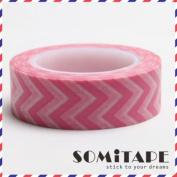 Pink Zigzag Washi Tape, Craft Decorative Tape