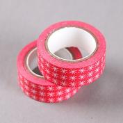 White Star On Red Washi Tape, Craft Decorative Tape by SHOKK™