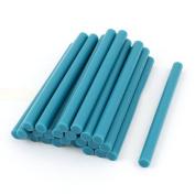 24 Pcs Teal Blue Hot Melt Glue Gun Adhesive Sticks 7mm x 100mm