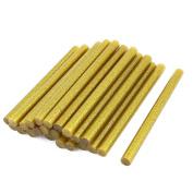 24 Pcs Gold Tone Glitter Hot Melt Glue Gun Adhesive Sticks 11x150mm