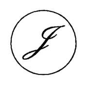 Artemio 18 mm J Stamp for Sealing-Wax, Gold