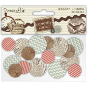 Dovecraft Curiosity Corner Wooden Buttons,