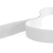 Sew On Hook and Loop Tape, 5 metres, White, 20mm Wide