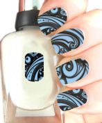 Easy to use, High Quality Nail Art Decal Stickers For Every Occasion! Ideal Christmas Present / Gift - Great Stocking Filler BlueSwirl