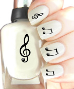 Easy to use, High Quality Nail Art Decal Stickers For Every Occasion! Ideal Christmas Present / Gift - Great Stocking Filler Music Notes