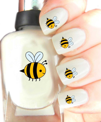Easy to use, High Quality Nail Art Decal Stickers For Every Occasion! Ideal Christmas Present / Gift - Great Stocking Filler Bumble Bee