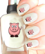 Easy to use, High Quality Nail Art Decal Stickers For Every Occasion! Ideal Christmas Present / Gift - Great Stocking Filler Pig