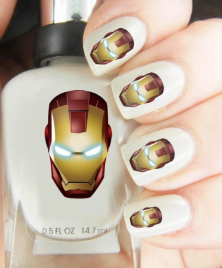 Easy to use, High Quality Nail Art Decal Stickers For Every Occasion! Ideal Christmas Present / Gift - Great Stocking Filler Ironman
