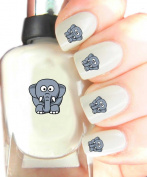 Easy to use, High Quality Nail Art Decal Stickers For Every Occasion! Ideal Christmas Present / Gift - Great Stocking Filler Elephant