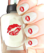 Easy to use, High Quality Nail Art Decal Stickers For Every Occasion! Ideal Christmas Present / Gift - Great Stocking Filler Red Lips