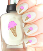 Easy to use, High Quality Nail Art Decal Stickers For Every Occasion! Ideal Christmas Present / Gift - Great Stocking Filler Ice Cream