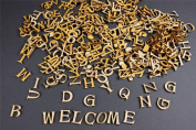 250+ Wooden Small (2cm) Adhesive Letters & Digits Craft Alphabet Decoration NF13