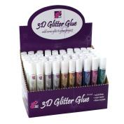 3D Glitz It Colour Glitter Glue Craft Tube Pen + Nozzle - HOT FUCHSIA PINK