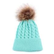 Kingko® Newborn Cute Winter Kids Baby Hats Knitted Hemming Skullies Beanies Hat