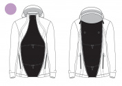Zip Us In Jacket Expander Panel – Turns The Coat You Love Into a Maternity or Baby-Wearing Jacket