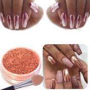 NXDWJ Sexy Rose Gold Nail Mirror Powder Glitter Chrome Powder Art Decoration