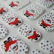 New Design LITTLE CHIX Nail Wraps CHRISTMAS Santa Hat Snow Red White CHILDRENS Teens Finger Toe Foils Minx Jamberry Style