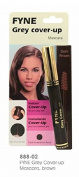 Cover Your Grey Mascaras for Women & Men Instant Grey Hair Touch-ups (Dark Brown (888-02)) by FYNE Grey Cover-Up