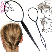 Simply Gorgeous 2 Piece Twist & Loop Ponytail Maker Hair Braid Styling Tool
