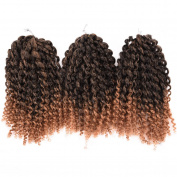 Synthetic Marlybob Kinky Curl (3 Bundles/pack) 20cm Curly Wave Crochet Braiding Hair Extension