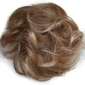 PRETTYSHOP 100% Human Hair Scrunchy Scrunchie Bun Up Do Hair Piece Hair Ribbon Ponytail Extensions Wavy Curly Messy Div. colours