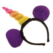 Sharplace Rainbow Unicorn Horn Headband Sequin Ears Girls Women's Costume Halloween Dress Up - 1, as described