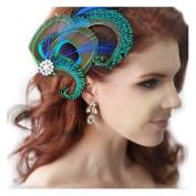 Jelinda women's peacock Bridal headband feather fascinator Headpiece hair accessories