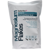 Better You Magnesium Original Flakes 1KG Add to a foot or body bath for whole body health and relaxation.