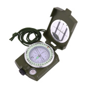 Compass, Sportneer Military Lensatic Sighting Compass with Carrying Bag, Waterproof and Shakeproof, Army Green