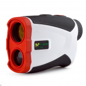 EasyGreen Jolt 1300 Golf Rangefinder with Slope-Switch Technology (1,300 Yard Range), White