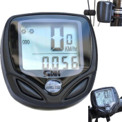 Gaddrt Wireless Bike Computer, Waterproof Cycle Computer with Large LCD for Tracking Riding Speed and Distance,Bike Computer Odometer Speedometers