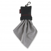 Carson Stuff-It XL Microfiber Cleaning Cloth for Eye Glass - Black/Grey