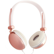 Lily England Rose Gold Headphones Over-Ear With Mic and Volume Control