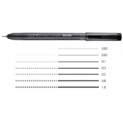 Co-pick millimetres pen multi-liner black one piece of article / rose 0.03/0.05/0.1/0.3/0.5/0.8/1.0