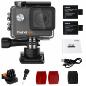 ThiEYE Original i60e 4K Wifi Action Camera 5.1cm HD Screen 60m Waterproof Video Black Sport Cam 170 Wide Angle APP Control with Full Accessories