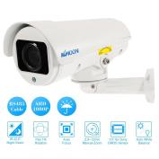 "KKmoon PTZ Outdoor Camera 1080P AHD Bullet PTZ CCTV Camera 2.8~12mm Auto-Focus Manual Varifocal Zoom Lens 2.0MP 1/3"" for Sony CMOS IR-CUT Weatherproof 4pcs Array IR LEDS Night Vision Pan Tilt Rotation"