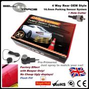 OEM Style Flush Fit 4 Rear Reversing Parking Sensor Kit 16.5mm Audi VW BMW Merc