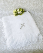 New Christening AVA Embroidered Shawl Baby Blanket