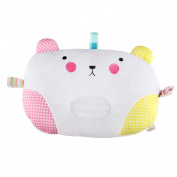 Baby Pillow, KAKIBLIN Baby Sleep Pillow Soft Baby Head Support Pillow, Organic Cotton Baby Pillow Flat Head, Pink