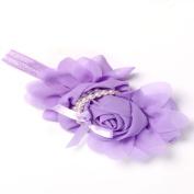 Viskey Lovely Cotton Girls Baby Headbands,Pearl,purple